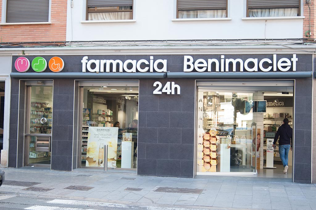 Exterior Farmacia de Guardia Valencia en Benimaclet