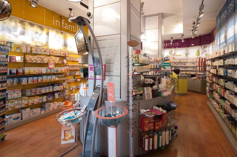 Interior farmacia 24 horas Av Puerto