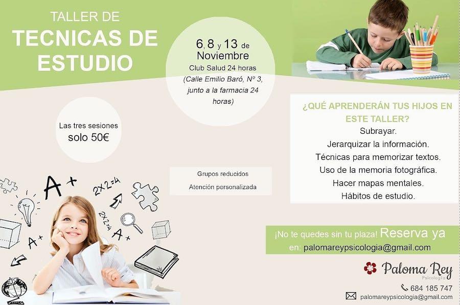 taller técnicas de estudio en Club Salud 24 horas