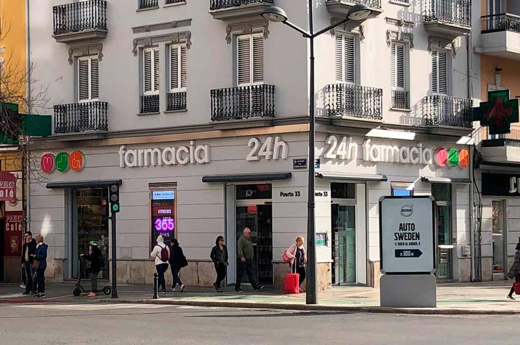 Farmacia Avda. Puerto 33, una de las mejores farmacias 24 horas en Valencia